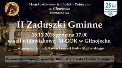 Photo of W Glinojecku podczas gminnych Zaduszek wystąpi Kuba Michalski