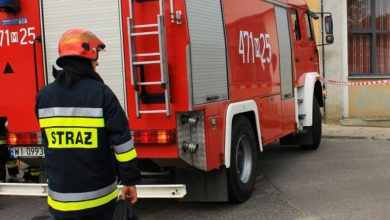 Photo of W Sierpcu strażacy uratowali mężczyznę z płonącego mieszkania