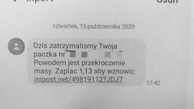Photo of Przestępcy wysyłają fałszywe SMS-y