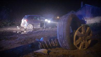Photo of Pijany kierowca wjechał na podwórko. Poszukiwała go policja
