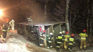 Photo of Dukt: Wypadek ciężarówki z trzodą chlewną