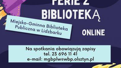 Photo of Internetowe propozycje na ferie od biblioteki w Lidzbarku