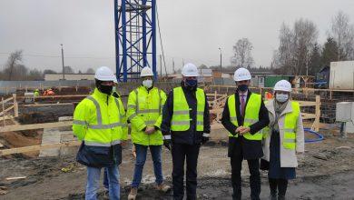 Photo of Delegacja wizytowała budowę Komendy Powiatowej Policji w Rypinie